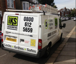 IKS Locksmiths in London Van image