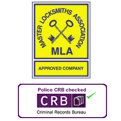 MLA logo and CRB logo