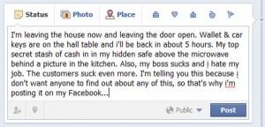 burglary and social media