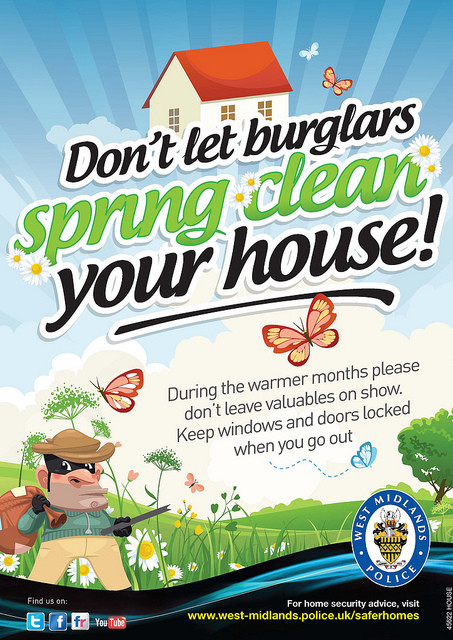 dont let burglars spring clean your house