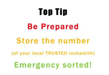 locked out tip from a locksmith