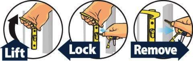 how to dead lock a door