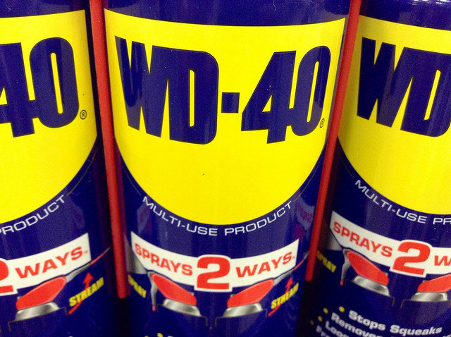 wd40 for doors