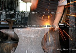blacksmith forge and hammer