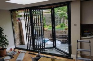 concertina security grille installation in north london