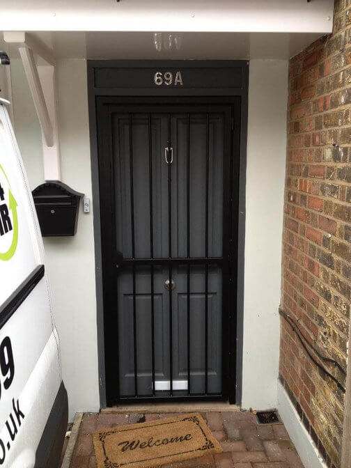 door security grilles installed at a property in north london