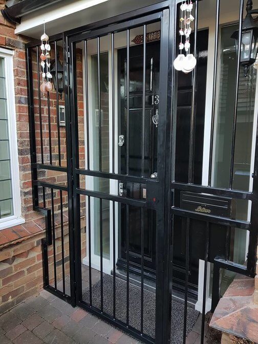 front door security bars
