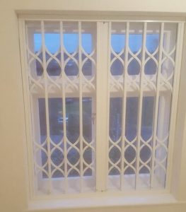 Residential Collapsible Window Grilles closed