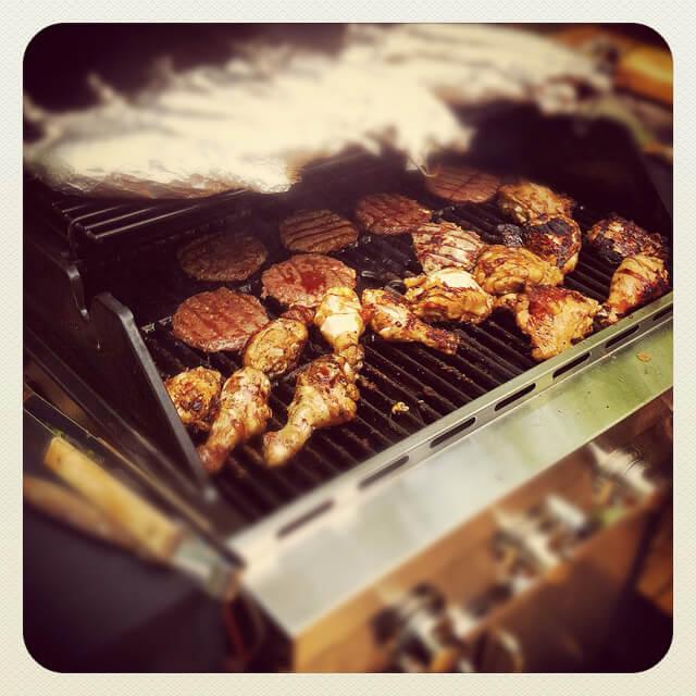 summer barbaque outdoors