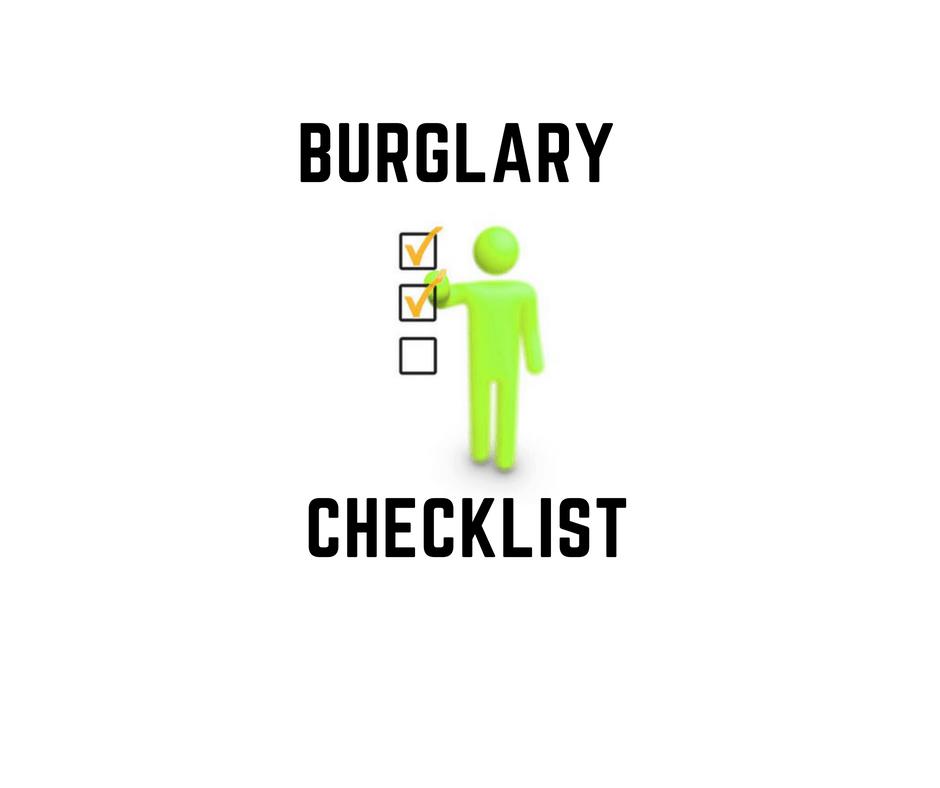 Burglary Checklist