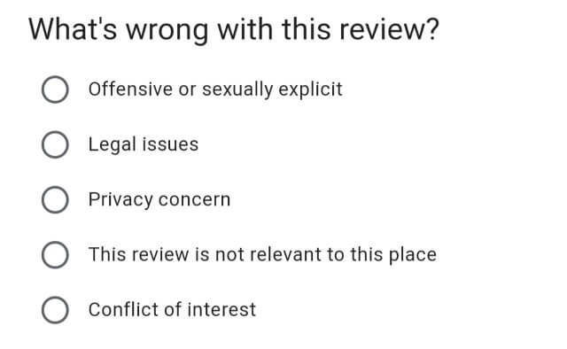 Reporting a Review to Google