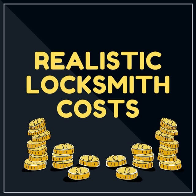 realistic locksmith costs and charges
