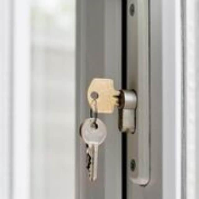 upvc door lock badly fitted