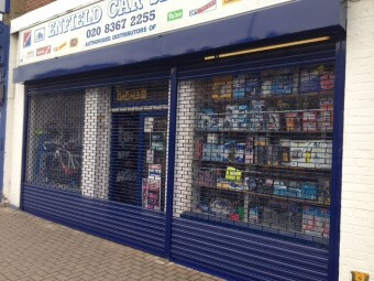 shop security shutters installed