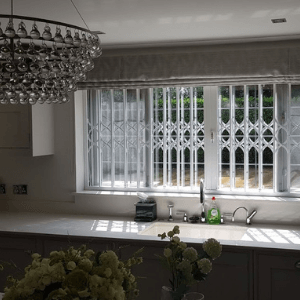 s-lattice retractable security grilles for window