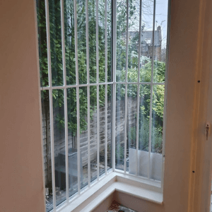 internal fixed grille installed on window