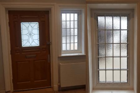Imitation Georgian window bars for security