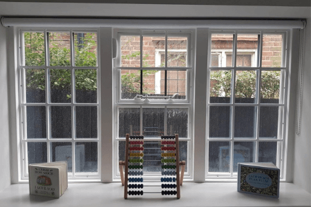 Invisible security grilles installed in window