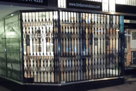 shop front security grilles