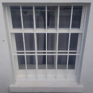 fixed security grille fitted on window