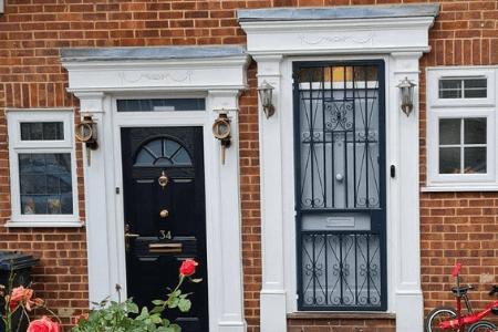Front door security gate