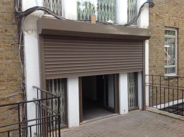 shop front roller shutters installed